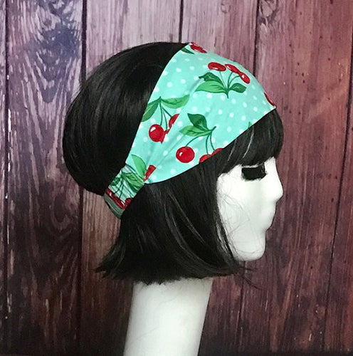 Cherry Print Cotton Headband