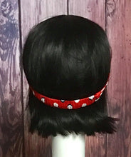 Red Polka Dot Knit Headband