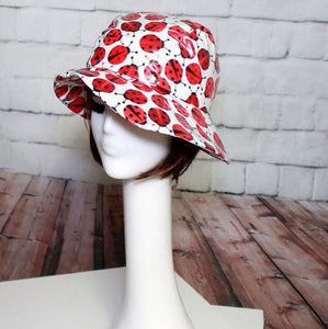 Asymmetrical Cloche Rain Hat