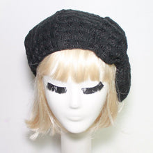 Black Beret Hat with Bow