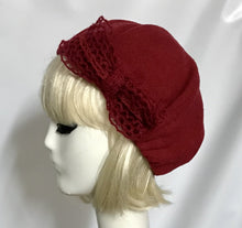 Red Beret Hat Bow