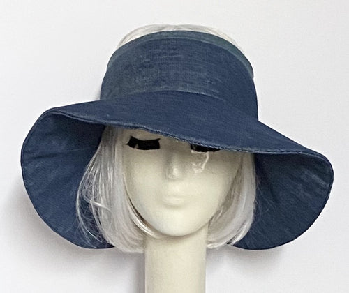 Denim Sun Visor Hat