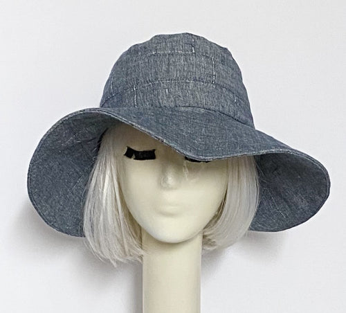 Vintage Denim Upcycled Sun Hat
