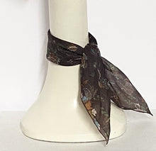 Brown Floral Scarf