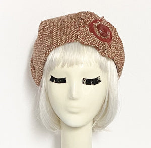 Red Wool Beret Flower