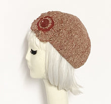 Load image into Gallery viewer, Red Wool Beret Flower