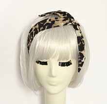Load image into Gallery viewer, Leopard Headband Tie with a Scrunchie