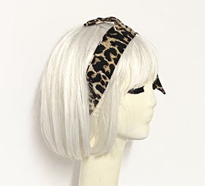 Leopard Headband Tie with a Scrunchie