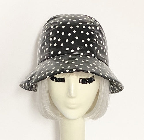 Polka Dot Cloche Rain Hat