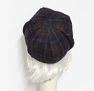 Plaid Beret Hat