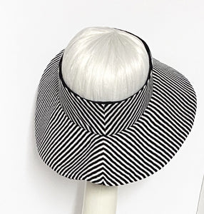 Striped Sun Visor Hat