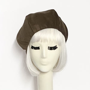 Brown Beret Hat