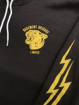 Basement Brigade Black Hooded Sweatshirt