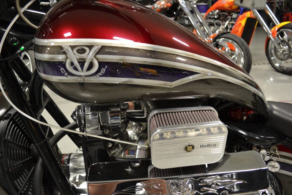 "2007 V8 Chopper (350"") Red/Silver"