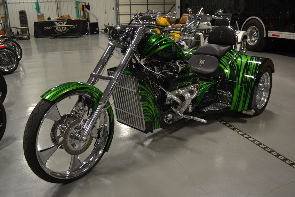 "2017 V8  Hot Rod (427"") green on green - SOLD -"