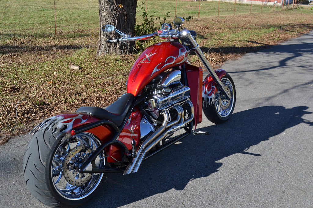 2008 V8 (350 engine) Red Tribal -Flame cut Fenders - SOLD -