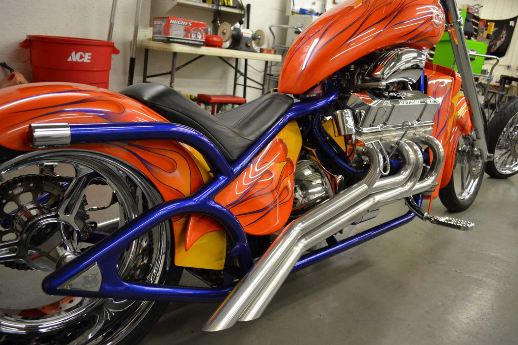"2013 V8  (400"" Engine) Purple Frame/Orange Flame (PRE-OWNED) -SOLD"