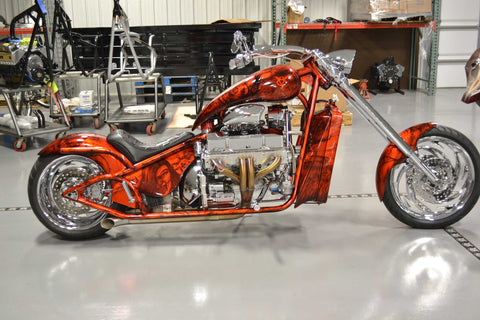 Right Side Image of 2010 Chopper (434″ Engine) Tangerine Orange Metallic
