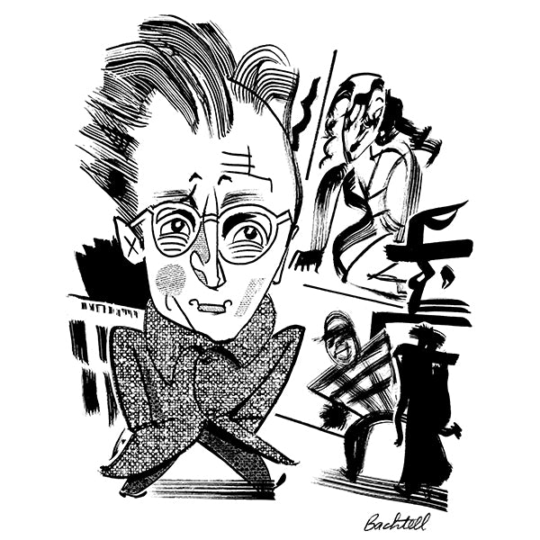 Nelson Algren by Tom Bachtell for New York Review of Books