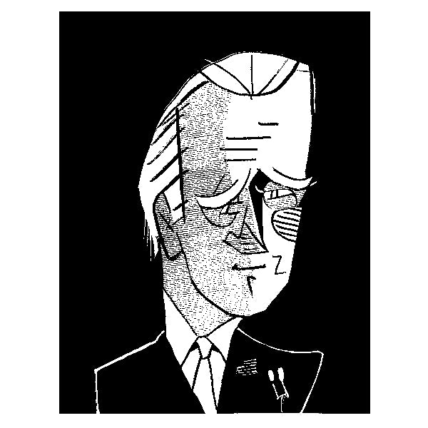 Joe Biden by Tom Bachtell for New York Review of Books