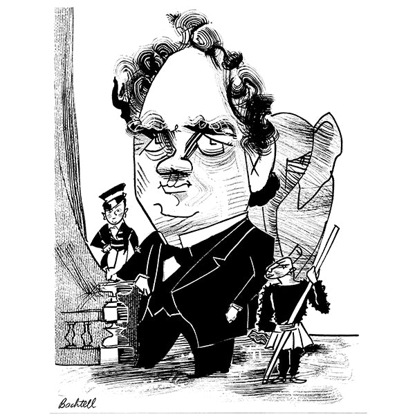 P.T. Barnum by Tom Bachtell for New York Review of Books