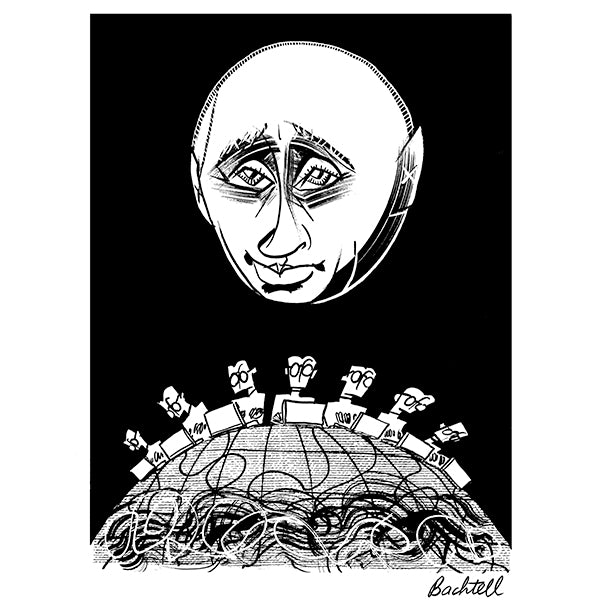 Vladimir Putin by Tom Bachtell for New York Review of Books