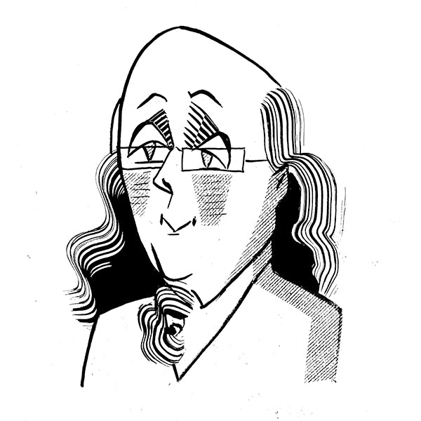 Ben Franklin by Tom Bachtell for the Wall Street Journal