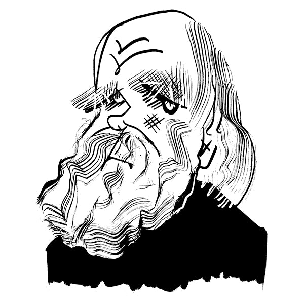 Charles Darwin by Tom Bachtell for The Wall Street Journal