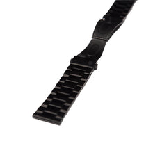 black metal strap mens and womens designed by architects WHY Watches butterfly clip