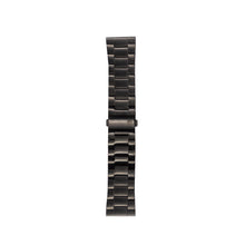 black metal strap mens and womens designed by architects WHY Watches