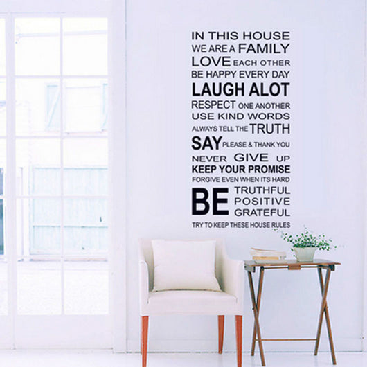 Happy Family - Removable Wall Decal
