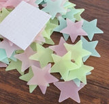 100pcs Glow In The Dark Stars - Wall Stickers