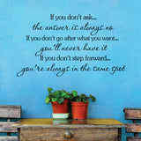 Motivational Quote - home decal