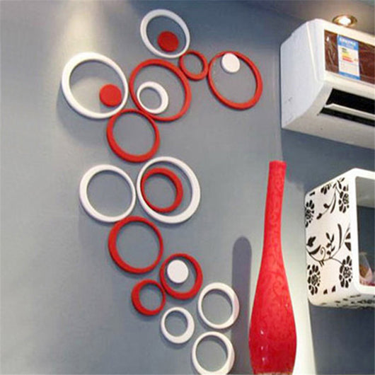 Decoration Circles - Removable 3D Art Wall Stickers
