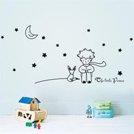 Little Prince With Fox - Wall Decal