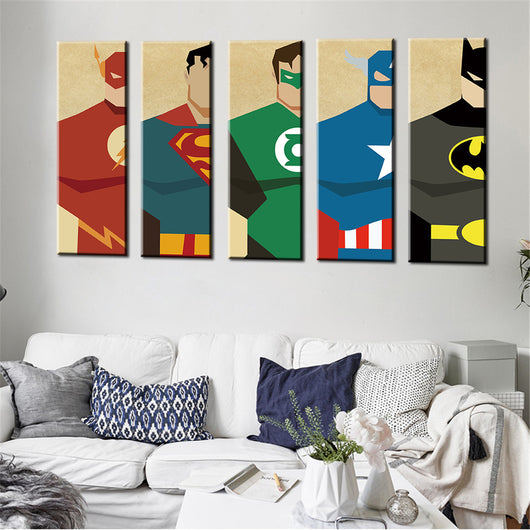 Oil Painting Superheroes - Canvas Painting Home Decor