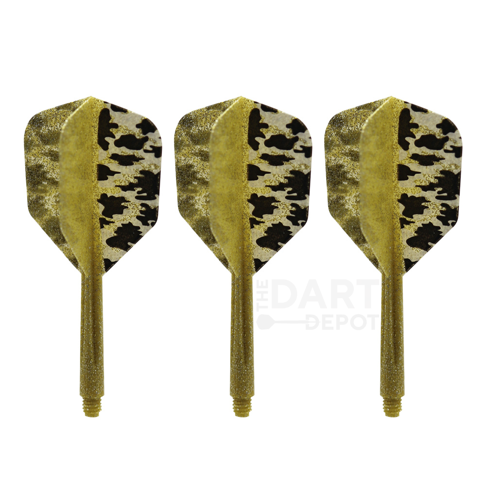 Condor Zero Stress Flights & Shafts - Gold Camo Shape