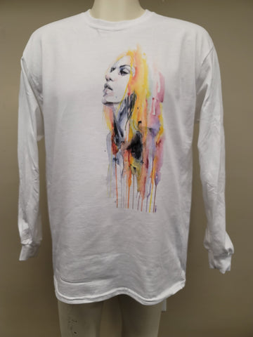 Watercolor woman long sleeve