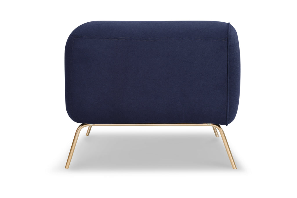1157INGO,Big Arm Chair in Indigo Felt