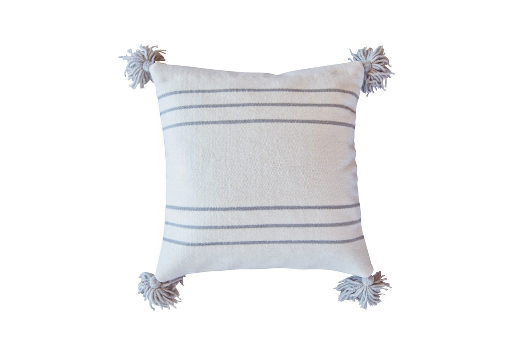 2013GRY,Thin Striped Pillow in Grey