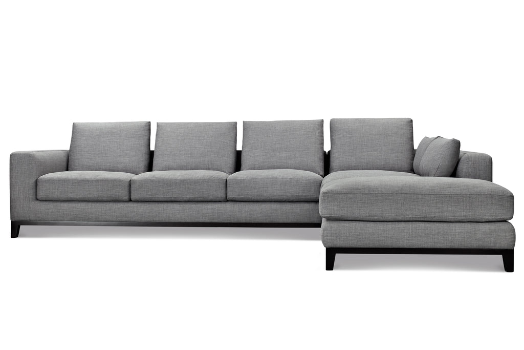 1011FTGRYRKellan Sectional Sofa Right Chaise in Grey Tweed  sc 1 st  Capsule Home : grey tweed sectional sofa - Sectionals, Sofas & Couches
