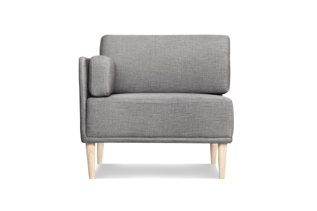 1024LNOAT2,Knook Corner Chair In Oatmeal Linen