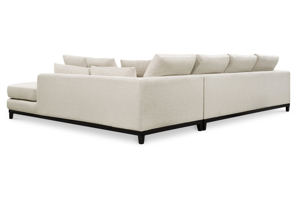 1011LNWHTR,Kellan Sectional Sofa Right Chaise in White Linen