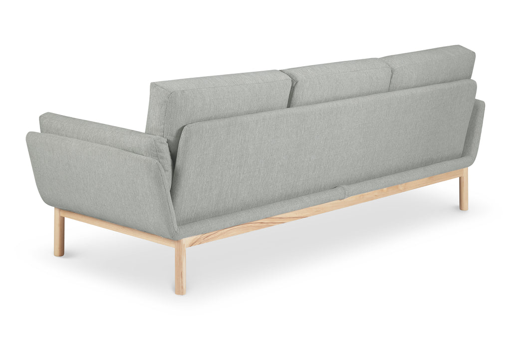 1041FWLG,Angle Arm Sofa in Light Grey Weave with Ash Legs