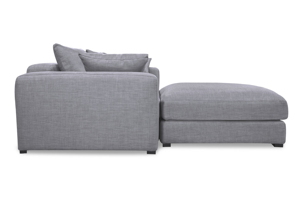 1136FTGRY,Remissa Ottoman In Grey Tweed