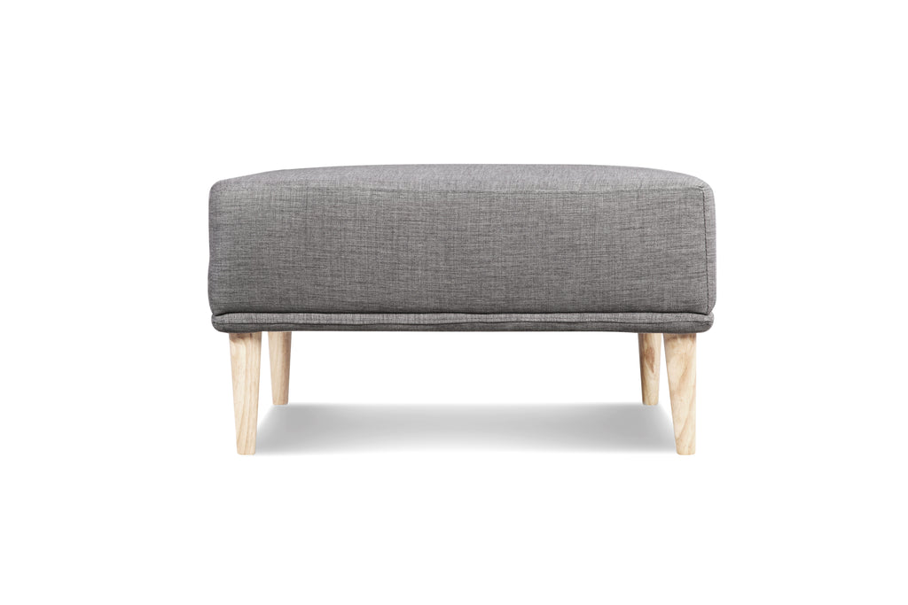 1024FTGRY3,Knook Ottoman In Grey Tweed