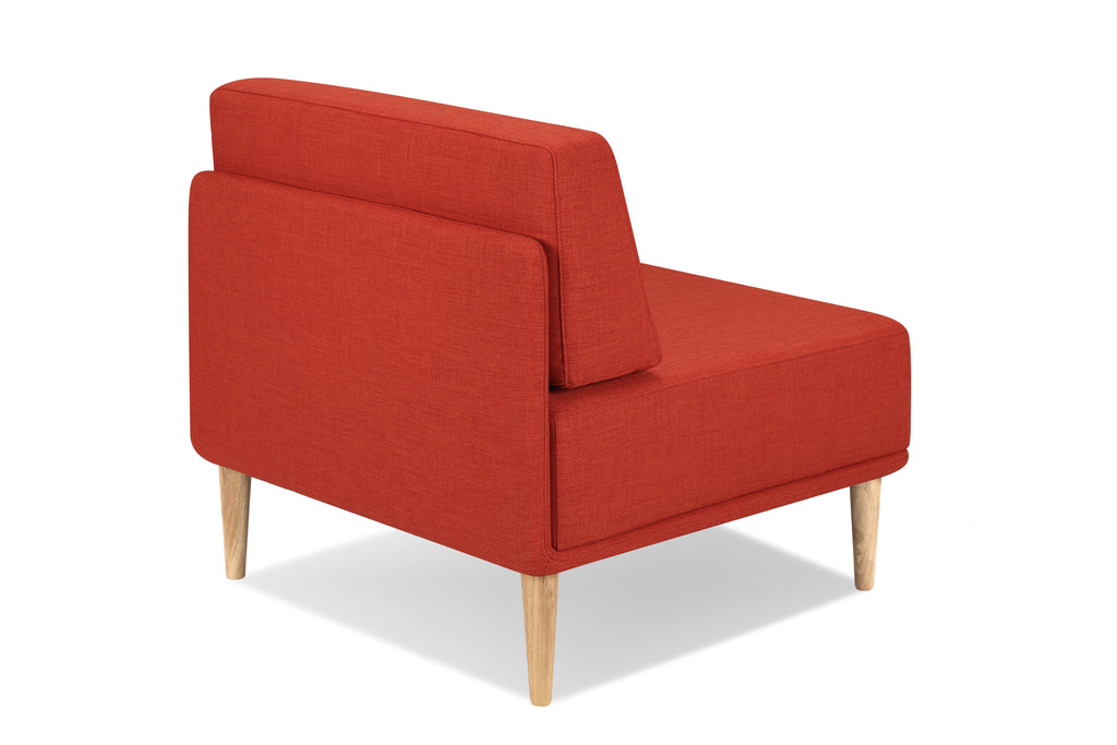 1024EARED1,Knook Single Chair In Earth Red Tweed