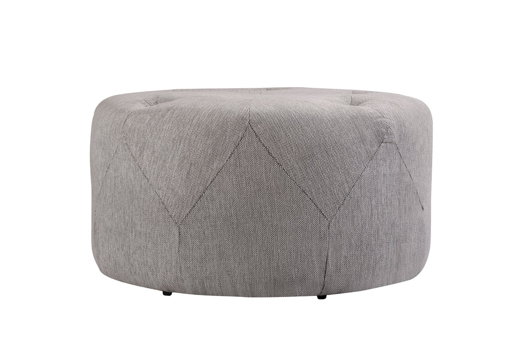 1210FWLG,Freeman Medium Ottoman in Light Grey Weave