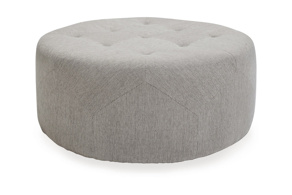 112FWLG,Freeman Ottoman in Light Grey Weave