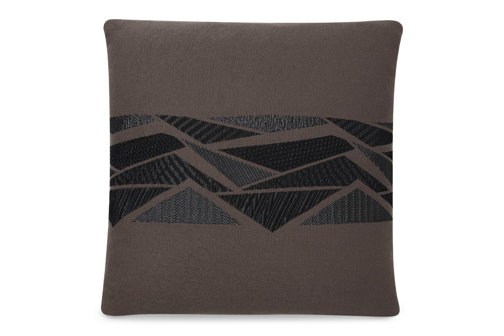 2018TAN,Tan with Grey Triangles Capsule Pillow